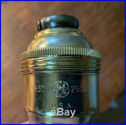 10 NOS O C White Vintage Screw Together Light Industrial Lamp Sockets Ajusco GE