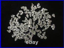 118 Vintage Murano Italy Crystal Glass Beads Prism Lamp Parts, 5/8 T, 3/8 Wide