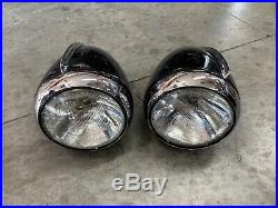1936 1937 Vintage Packard Junior Headlight Lamps Bezels Trim Bullet Buckets