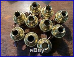 20 NOS O C White Vintage Screw Together Light Industrial Lamp Sockets Ajusco GE