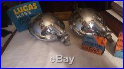 2 NOS vintage lucas long range lamps, SLR, 576