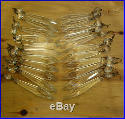 40 vintage French Udrop Crystal Glass Prism lamp Chandelier Parts great conditio