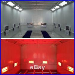4Sets 3-Row Infrared Power Lamp Car Spray Paint Booth Dryer Light 220V 3000W 4