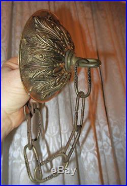 4.75 Vintage cast Brass Bronze Ceiling canopy 20 chain lamp chandelier part