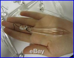 50 oil kerosene lamp French Udrop Crystal Glass Prism Chandelier Part vintage