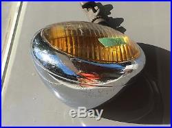 6VUNITY S-4 FOG LIGHT hot rod vintage auto 2 TWO TONE GLASS Lamp RAT ROD solid