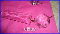 Antique 24 6 Long Antique/Vintage 4 Crystal Prisms Chandelier Lamp Parts