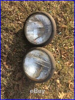 Antique Headlamp Headlight Vtg Assembly Old Light Auto Lamp Hot Rod Car Model A