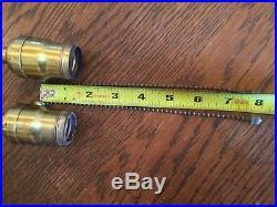 Antique Hubbell Sockets Vintage Lamp Part 2 Brass Fat Boy- Light Acorn Pull