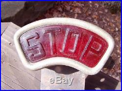 Antique Vintage 1920's 1930's STOP Car Truck Motorcycle Tail Light Lamp