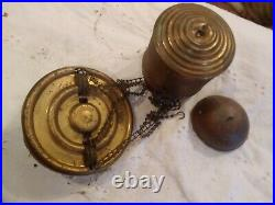 Antique Vintage Metal Hanging Lamp Parts
