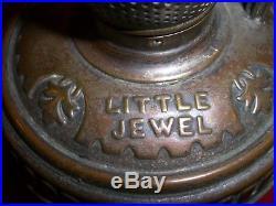 Antique Vintage Non-aladdin Size 0 Little Jewel Hotel Oil Kerosene Lamp Part
