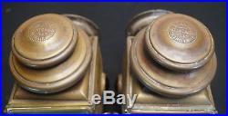 Antique Vtg 1910's E & J Detroit MI Pat. 1908 Model T Brass Era Car Light Lamps