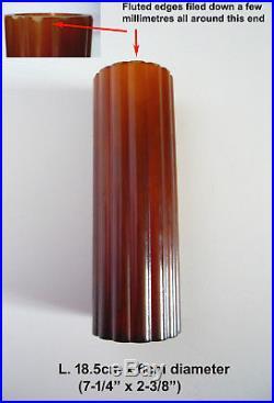 CATALIN PHENOLIC BAKELITE PART FOR VINTAGE ART DECO BRASS / CHROME LAMP 235g