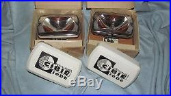 CIBIE 35 NOS NEW AIRPORT DRIVING LIGHT ROAD RALLYE CHROME SPOT LAMP With COVERS