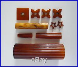 Catalin Parts For Vintage Art Deco Brass / Chrome / Bakelite Lamps 403 Grams