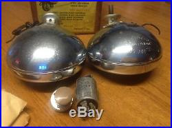 Do-Ray-500 EMERGENCY LAMPS pair vintage NIB red 12volt 5 EARLY w switch FLASHER