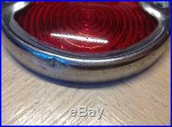 Early Bezel glass Lens BI-LITE vintage car TRUCK stop LAMP tail Light 4 1/2