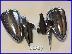 Early PAIR Vintage 1933 Buick Cowl Light LAMP glass Lens antique Auto Car Fender