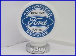 FORD Genuine Parts Gas Pump Globe Milk Glass Desk Lamp