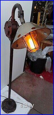Floor Lamp Industrial Iron with Parts Original CMS 35x24x135 Vintage