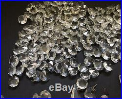 Huge Vintage Lot Approx 900+ Crystals Chandelier Lamp Prism Replacement Parts