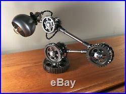 Industrial Desk Lamp Machine Gear Task Light Steampunk Rat Rod Vintage parts