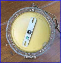 LG Canopy ceiling cap part Brass Vintage cut Crystal GLASS lamp chandelier chain