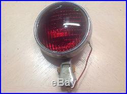 LQQK! VinTaGe PMCo 400 stop light tail LAMP red GLASS chopper hot rod Rat ROD 6v