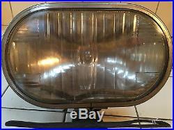LQQK! Vintage UNIQUE TRIPLE LITE OVAL Driving Light Lamp EARLY Auto w Bracket