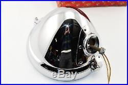 LUCAS Vintage P100-L Headlight 12 Chrome P100 Lamps Jaguar SS100 ORIGINAL