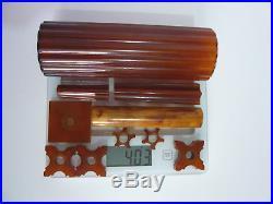 Lot Catalin Parts For Vintage Art Deco Brass / Chrome / Bakelite Lamps 403 Grams