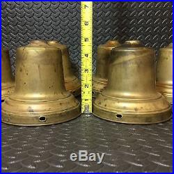 Lot Of 10 Vtg. 1950'sPressed Brass Bell Design Lamp Parts/Steampunk Project Items