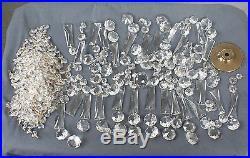 Lot Vintage Glass Crystals Chandelier Lamp Prisms Parts Hanging Drops