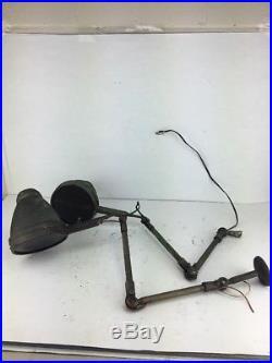 Lot of 2 Vintage Articulated Industrial Machine Shop Task Lamp Lights Parts