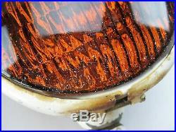 Lot of (3) Vintage Amber Dietz 9-51 Fire, Police Lamp Light Rat Hot Rod