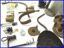 Mixed Vintage Lot Brass Metal Light Fixture Floor Lamp Sconces Shades Parts Used