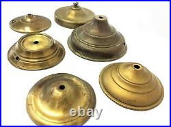 Mixed Vintage Lot Used Lamp Parts Canopies Brass Metal Lighting Hardware