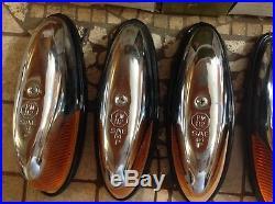 NIB SET 5 PM 112A vintage marker Light FENDER amber lens TRUCK CAB lamp