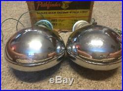 NIB Vintage pair FOG Light Pathfinder No15 AUTO LAMP 12 volt SEALED beam AMBER