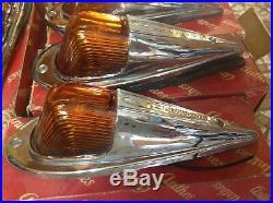 NIB set 5 6 volt ANTHES 666 vintage marker CAB lamp GLASS amber Lens TRUCK light