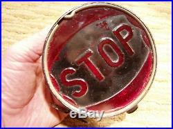 NICE Antique Vintage 1920's 1930s Car Truck Rat Rod Model T STOP Tail Light Lamp