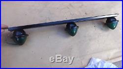 NOS K-D 503 CAB MARKER LIGHTS GREEN Vintage 3 BAR LAMP ford dodge chevy gmc coe