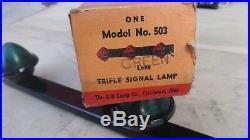 NOS K-D 503 CAB MARKER LIGHTS GREEN Vintage 3 BAR LAMP ford dodge chevy truck