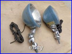 NOS S&M DRIVING LIGHTS Original Vintage Accessory pair 711 Lamps ford chevy gmc