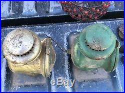 Oil Gas Kerosene Light Lantern Ford Model T Headlamp Headlight Carriage Lot Of 2