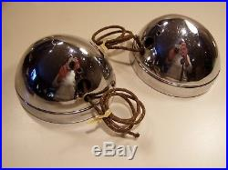 Old Pair Antique Vintage 1930's 1931 Hudson Car Cowl Lights Lamps