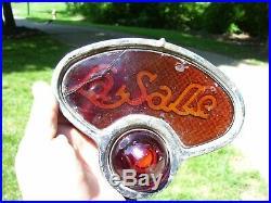 Original 1920s 30s LaSALLE automobile Tail light lens GM cadillac lamp vintage