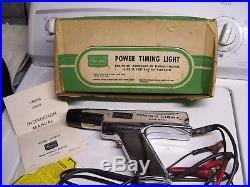 Original 60s SEARS Power Timing light Chrome engine tune-up tester vintage unit