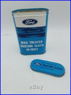 Original NOS Ford Motor Automobile can dust kit accessory Vintage parts Box Tin